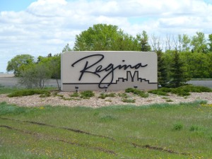 Regina - This city sign almost looks like a chocolate mousse cake and I want to eat it!