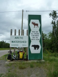 Arctic Watershed at 504 metre elevation, West of Thunder Bay